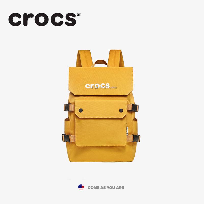 American Crocs fashion girls casual backpack for school students schoolbag travel Canvas Backpack large size