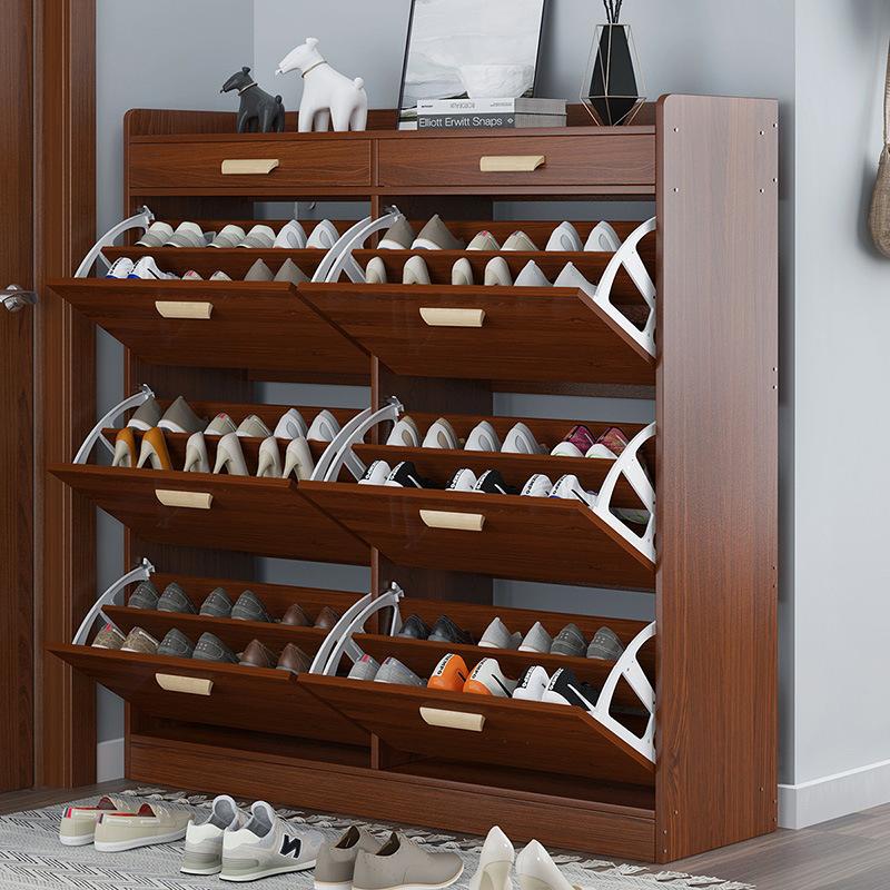 鞋柜24CM超薄家用门口大容量进门一体经济型简易收纳玄关柜翻斗式