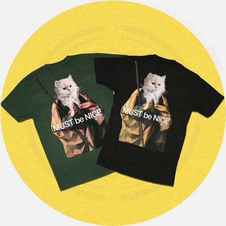 RipNDip Nermus Tee 宗教祈祷 贱猫T恤 中指猫正品圆领情侣短袖