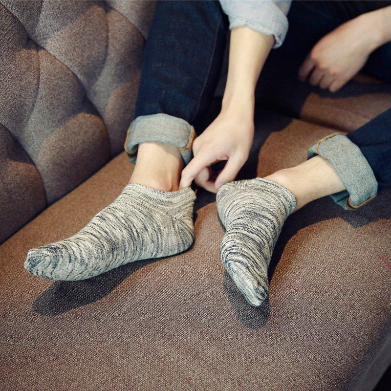 满29元包邮\日系原宿民族风浅口船袜男人袜低帮复古男士纯棉短袜