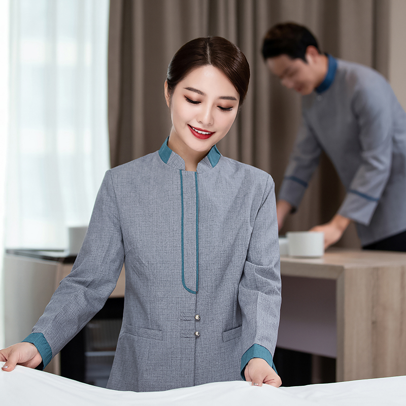 Spring and autumn nurse uniform hospital health care hospital cleaning work clothes shopping mall property community cleaner aunt clothes