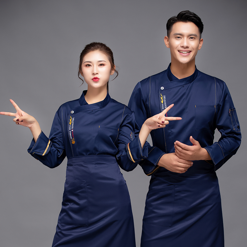 New western restaurant chef work clothes uniform coffee shop barbecue master clothes pastry flower baking and flower mounting master clothes