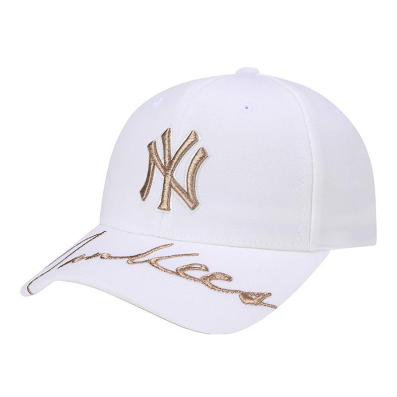 MLB棒球帽20新款白色韩国正品棒球NY帽子女士夏天遮阳男款鸭舌帽