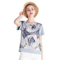 妈妈装2020新款夏装大码xxxxxl短袖女T恤时尚中年女装夏装上衣