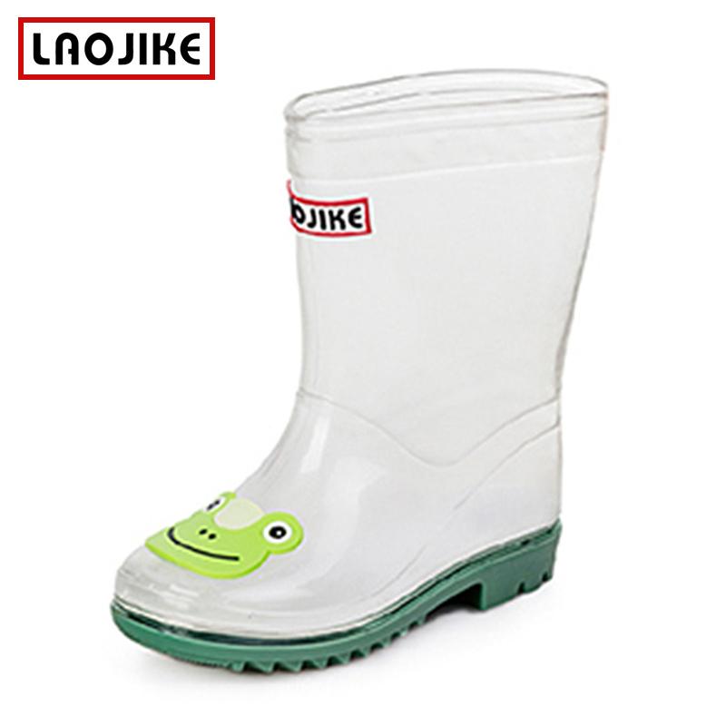 儿童透明雨鞋卡通雨靴女孩男孩胶鞋男童女童防滑水鞋宝宝小孩靴子