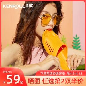 kenroll新品静音防滑男女夏凉拖鞋