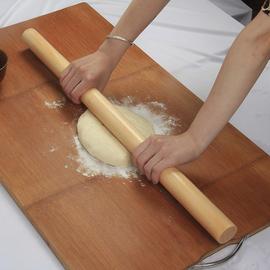 擀面杖实木压面棍大号做饼厨房烘焙工具槐木擀面棒1米榉木擀面棍
