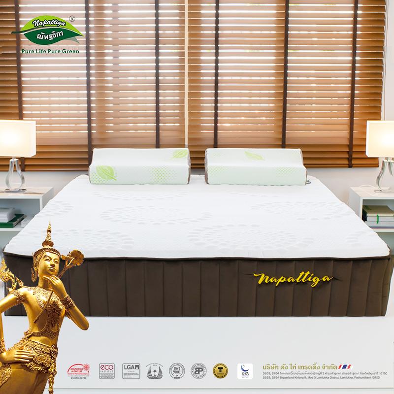 Napattiga娜帕蒂卡泰国天然乳胶独立筒弹簧床垫 双人床1.5米1.8米,可领取150元天猫优惠券