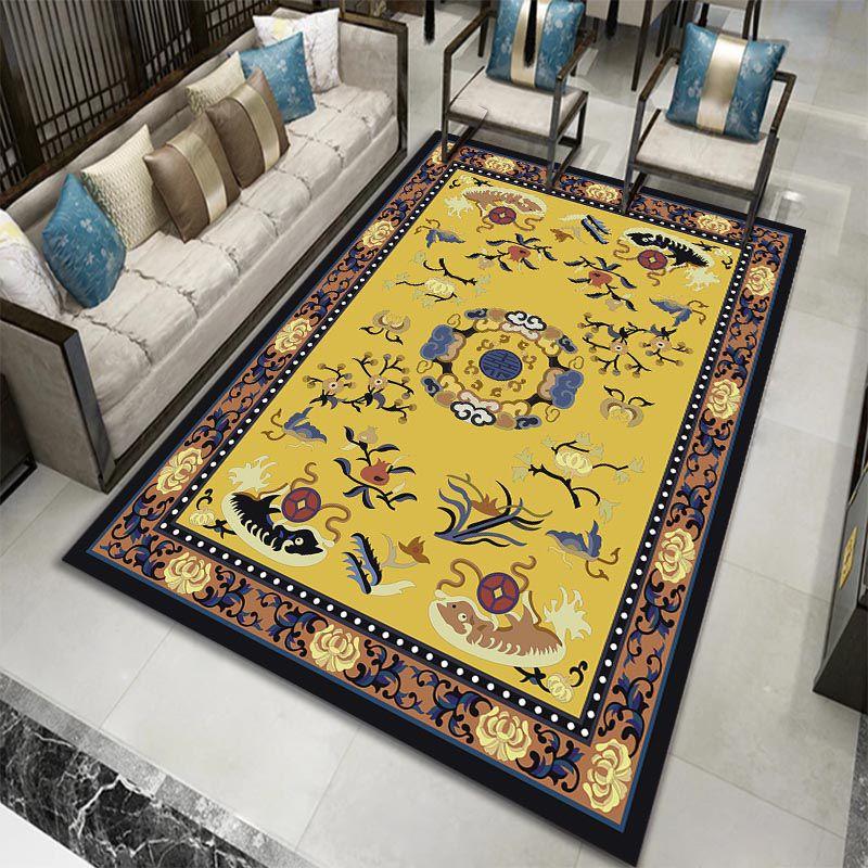 新中式中国风复古客厅地毯卧室茶室床边书房玄关茶几入户定制地垫