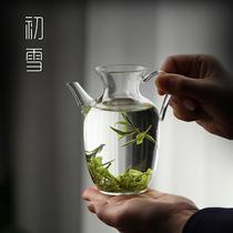 仿宋玻璃壶透明泡绿茶专用功夫茶具耐热冷泡小茶壶泡茶器家用套装