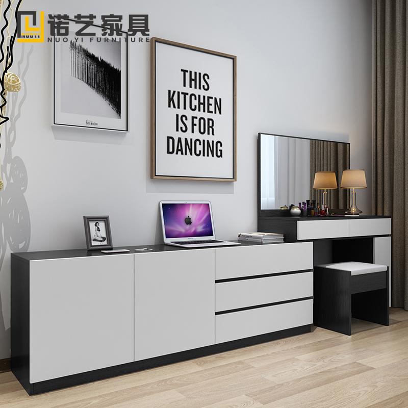 网红小户型卧室简约现代梳妆台