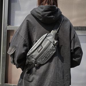胸包男ins超火多功能斜挎包潮牌单肩小包运动休闲百搭手提包腰包