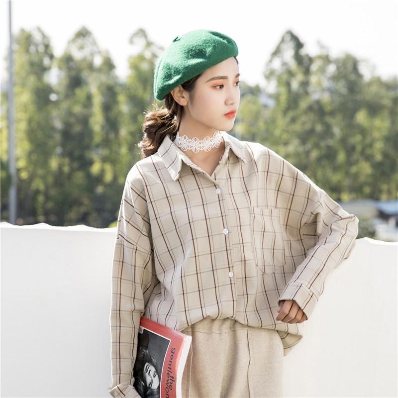 2019初春秋装新款轻熟风学生女衬衫(非品牌)