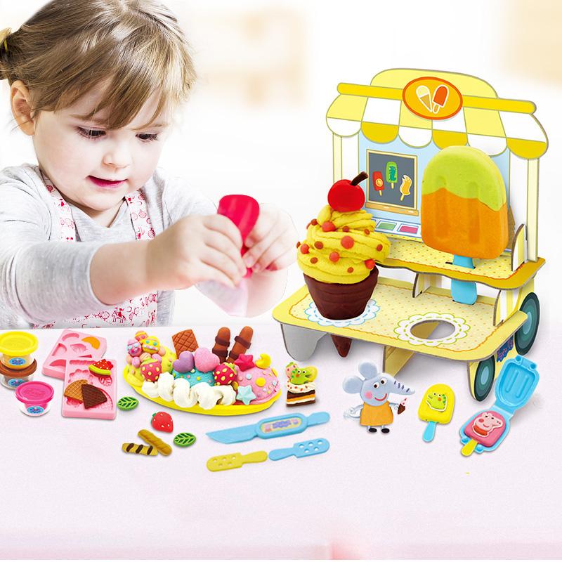 小猪佩奇超轻黏土儿童橡皮泥安全无毒彩泥佩琪男女孩手工玩具套装