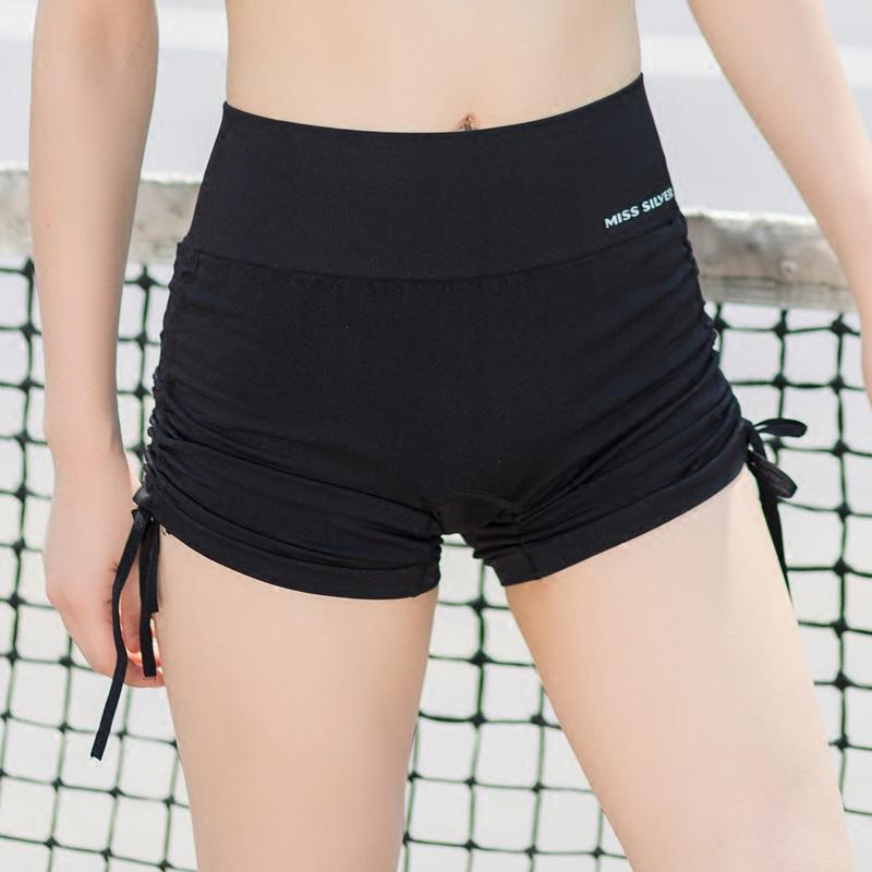 Fast drying tight sports shorts womens summer high waist fitness pants hip Yoga Pants slim running Pole Dance Shorts