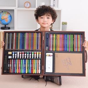 得力绘画套装礼盒小学生画画工具箱