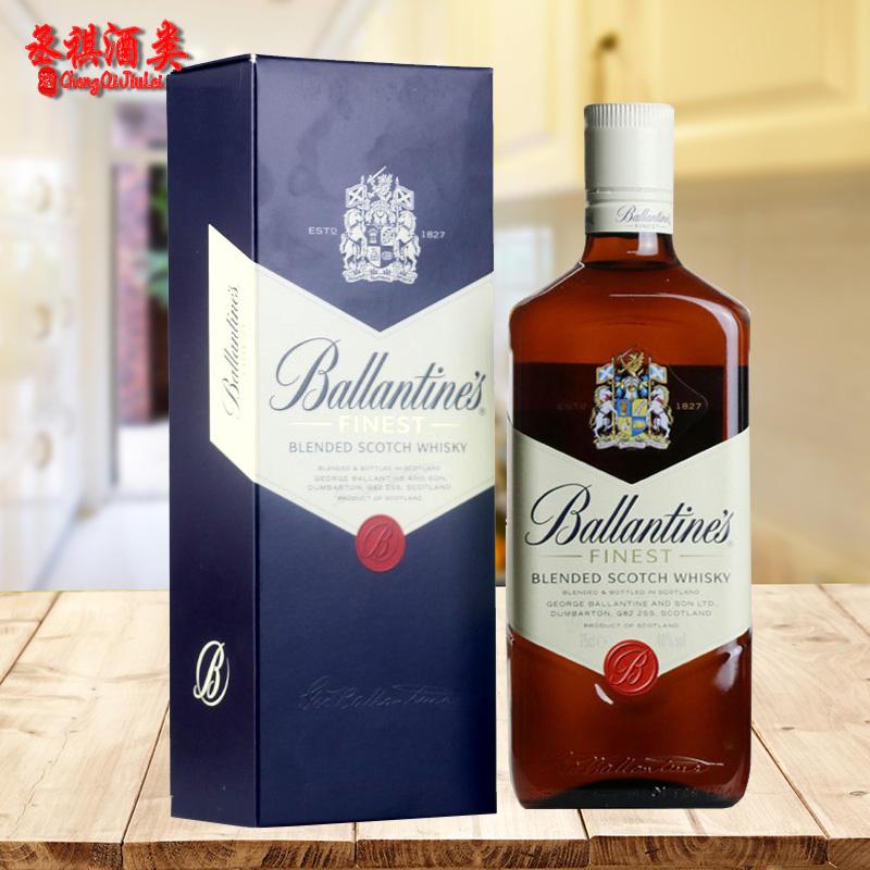 洋酒 百龄坛特醇苏格兰威士忌 BALLANTINE'S 进口750ml有盒