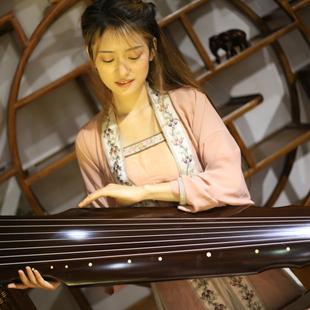 仲尼混沌式演奏古琴送调音器桌凳全套包邮百年老杉木生漆伏羲