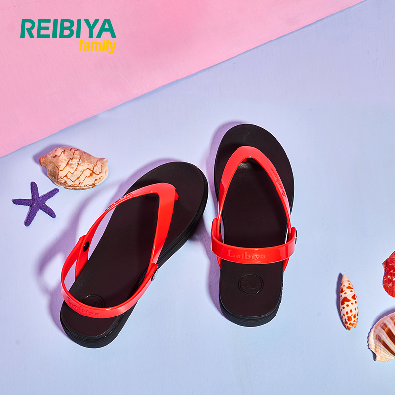 Rebia 18 summer new holiday beach shoes buckle cover flat bottom jelly shoes female open toe sandals