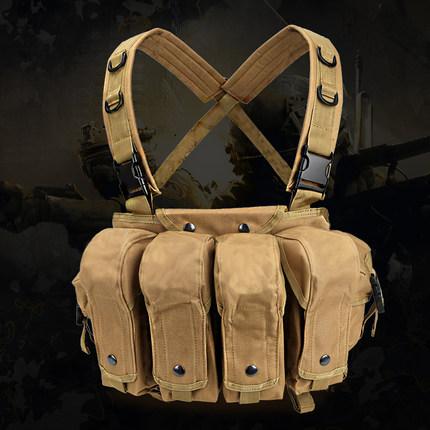 多功能轻便战术背心ak肚兜男户外cs野战wg防护装备特种兵作战马甲