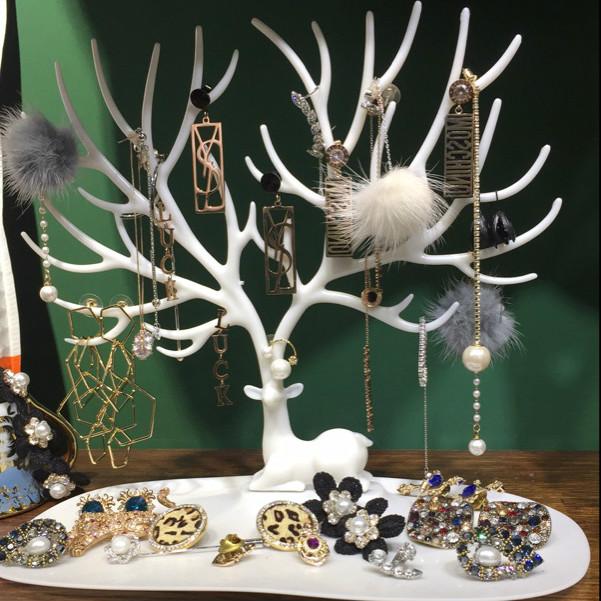 天天特价小鹿首饰架 饰品架耳环架 手链展示架 创意饰品收纳盒