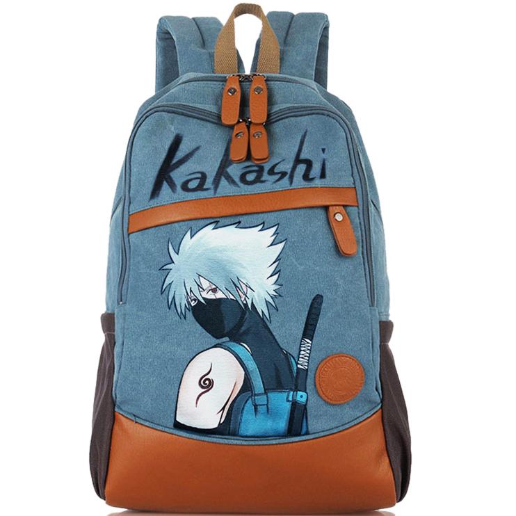 New graffiti backpack Naruto schoolbag Middle School Student Backpack campus cartoon cartoon computer bag travel bag