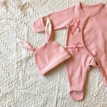 婴儿衣服新生儿连体衣春秋款宝宝和尚服蝴蝶衣保暖纯棉包手哈衣厚