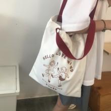 倪酱小铺ins大容量学生单肩帆布包女斜挎潮2020新款日系帆布袋