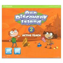 包邮培生原版进口欧美小学主流英语教材 ODI Our discovery island 第2级别教学白板课件 Active Teach 少儿美语英语课程 教师资源