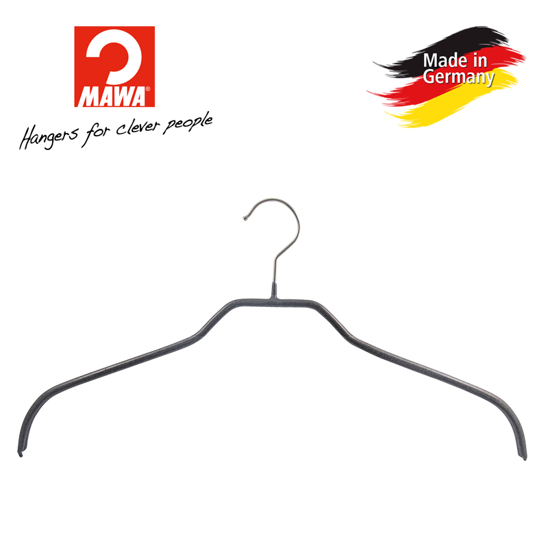Mawa anti slip and traceless coat jacket hanger, clothes support, household coat hanger f imported from Germany