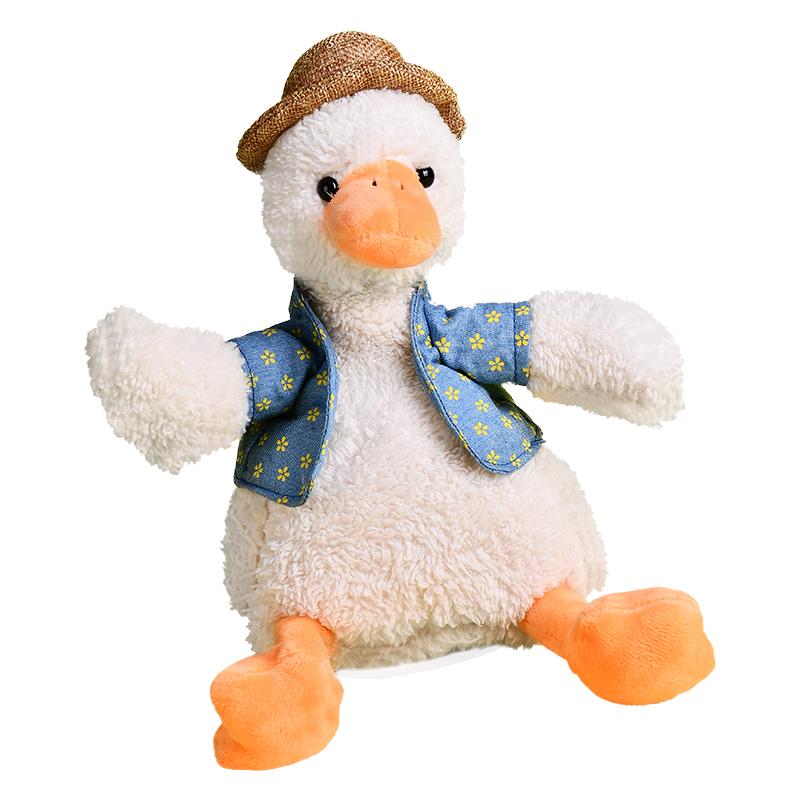 加油怼人沙雕复读鸭子网红毛绒玩具用后评测