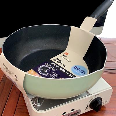 不粘锅炒锅煎锅绿色不粘炒菜锅加深麦饭石家用平底锅深煎锅电磁炉