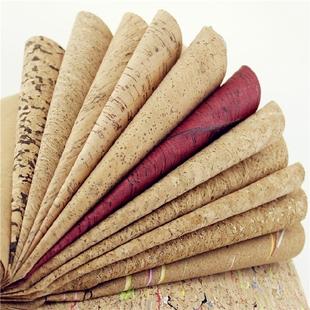 创意B系列软木皮革布料木纹布拍照背景布鞋 材工艺装 饰水松木面料