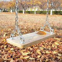 铁链实木坐板秋千户外家用木板庭院儿童人双人装饰荡秋千阳台定制