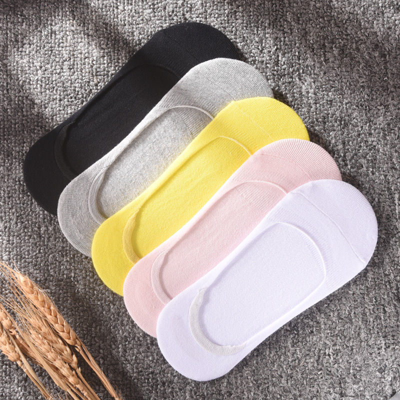 Silicone non slip invisible socks girls pure cotton sock cover Korean sock sole socks support summer thin shallow mouth ship socks bed socks