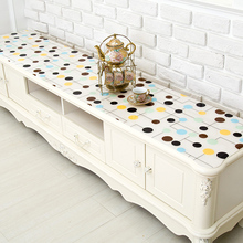 TV cabinet mat PVC tablecloth waterproof tea table mat soft glass plastic transparent PVC mat ins net red cover