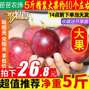 广西百香果大果5斤包邮水果新鲜白百果香果酱浆汁2一级当季整箱10