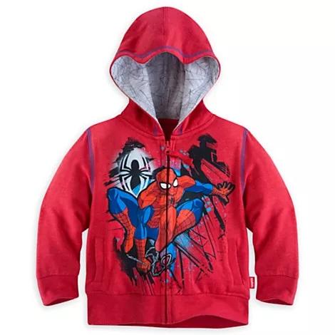 Spot Disney US Avenger alliance spider man light cartoon boys Hoodie Jacket