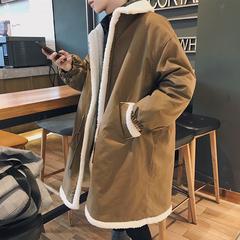 爆款延续 潮流百搭加厚保暖羊羔毛中长款棉衣外套男 W6056P148