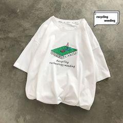 19夏装新款 爆款主推 创意卡通印花圆领短袖T恤男 T58135P25特