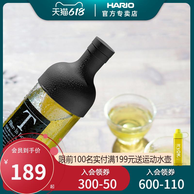 HARIO日本进口冷水壶创意红酒瓶耐热玻璃冷泡茶壶茶杯三件套FIHU