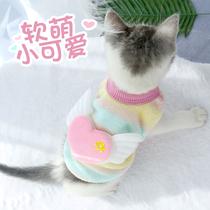 新出生奶狗奶猫衣服幼犬猫咪泰迪小狗秋冬季厚款加绒精品宠物背心