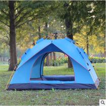 角露营双层野营加厚大帐篷6人全自动家用防暴雨85人43帐篷户外