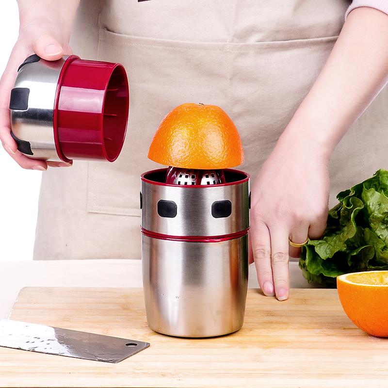 我的前半生不锈钢手动榨汁机迷你压原汁机手工炸橙子柠檬夹橙汁器