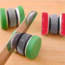 圆形磨刃器创意家居生活用品剪刃棒剪子器加厚快速双面菜刃楼刃石