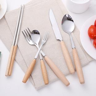 家用牛排刀叉西餐全套不锈钢牛扒餐具牛排刀餐勺餐叉叉子筷子勺子图片