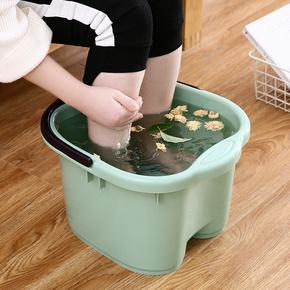 加厚加深按摩足浴桶手提塑料泡脚桶足浴盆家用洗脚盆足浴桶