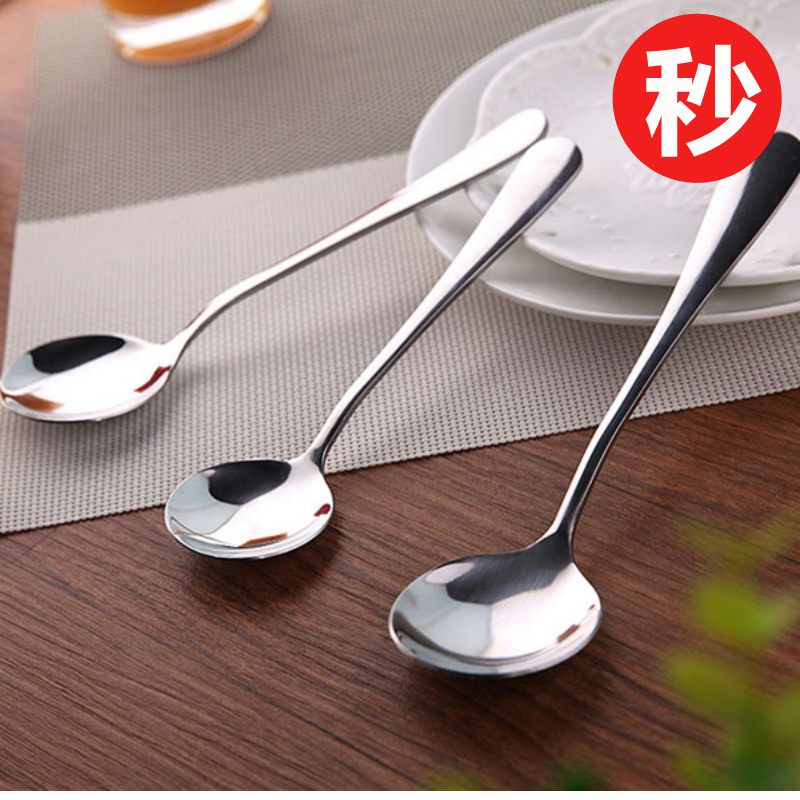 Нержавеющая сталь ложки суб - кофе размешивать ложка корейский домой посуда долго настроить суп суп ложка сковорода ложка соус ложка