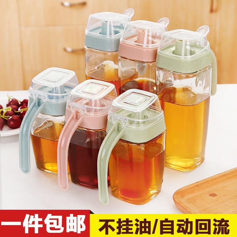 Большой размер простой стекло масленка кухня наряд lecythus ладан lecythus герметичный масленка соус масло вкус бутылка нефти бутылка уксус бутылка