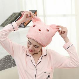创意卡通浴帽超强吸水速干包头巾浴室可爱动物成人加厚擦头干发帽图片